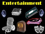 entertainment options, online games, movies, space music, interactive stories